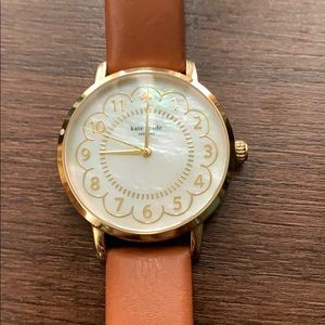 Kate Spade Leather and Pearlescent Watch